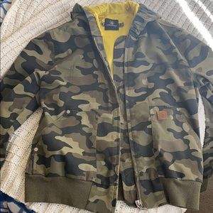 Volcom Cropped Camo Print Bomber Frochickie Jacket